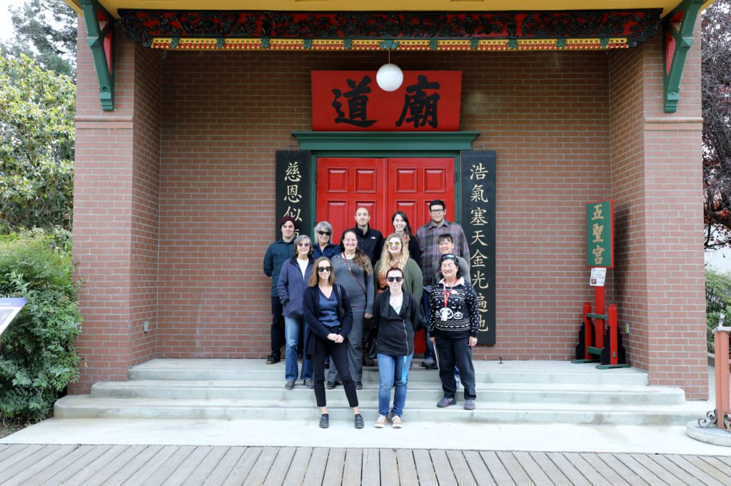 ACLQ team members tour the Chinese American Historical Museum
