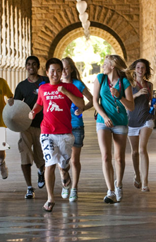 photo of students enjoying a summer conference at Stanford University