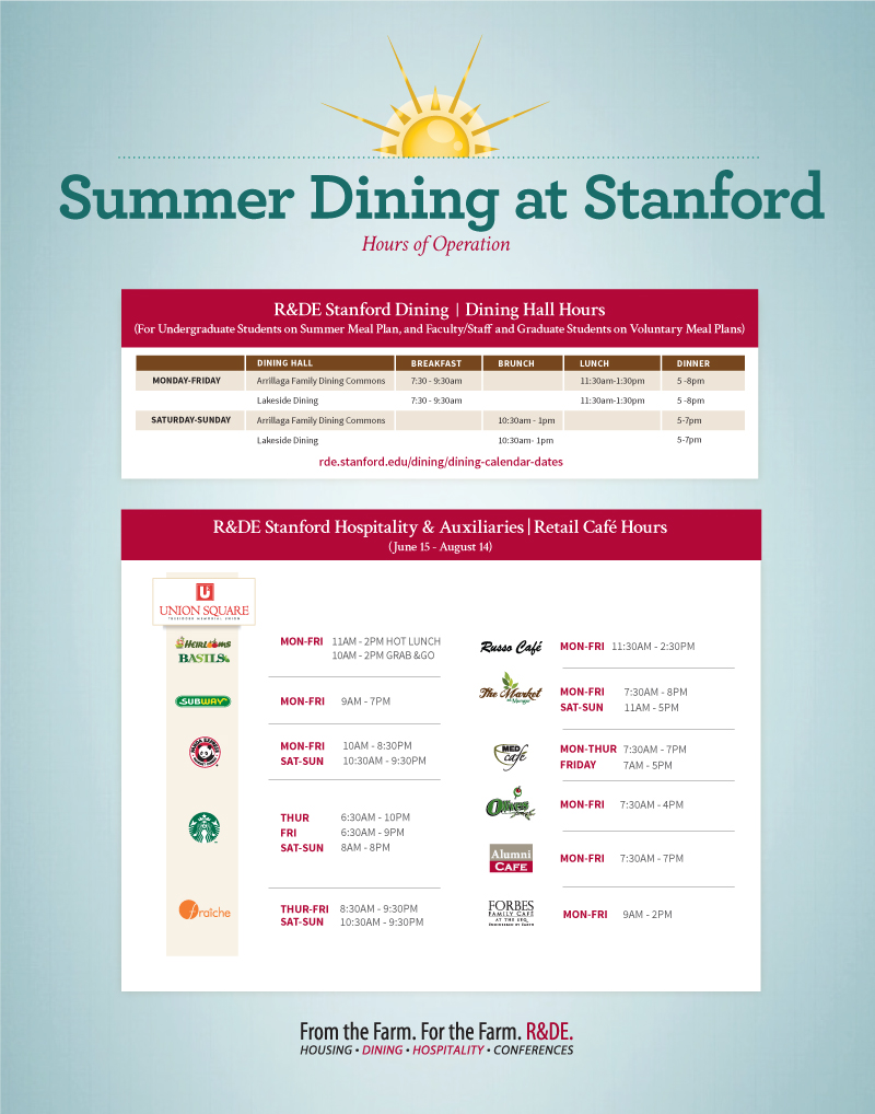 Stanford dining hours
