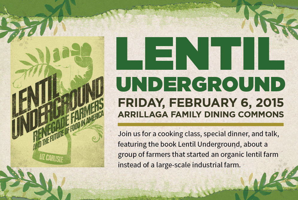 Lentil Underground Book Tour Event