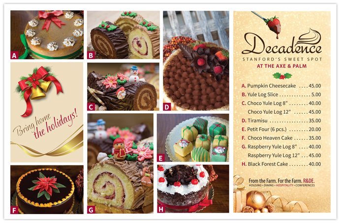 Image of Decadence Holiday Cake selections