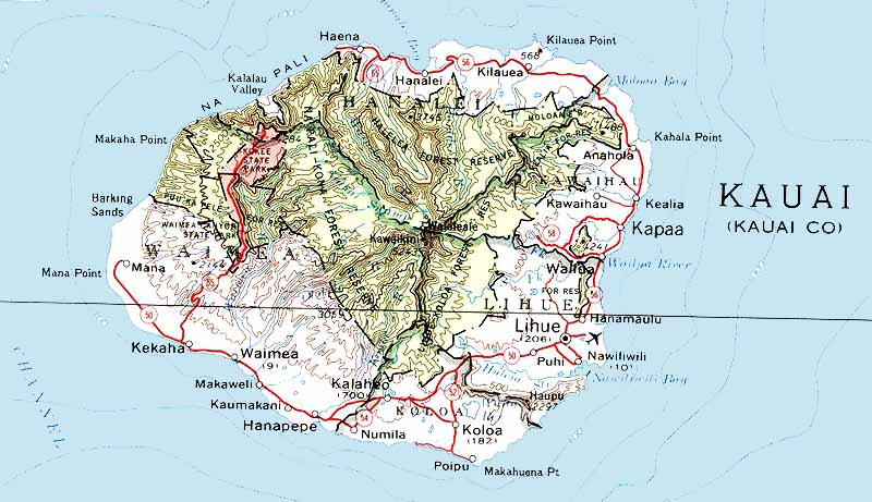 Best Maps of the Islands of Hawaii Cartes des iles Hawaii – Tourist Map Of Kauai