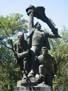 The monument to Tatarbunary uprising of 1924 (source: Wikimedia Commons)