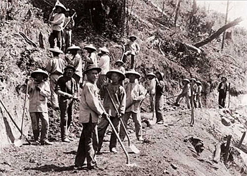 chinese workers on the transcontinental railroad