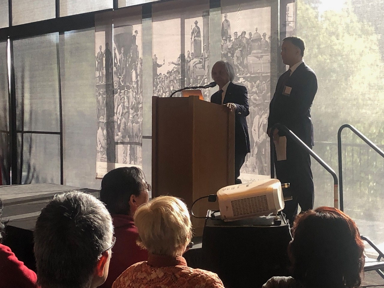 Gary Mukai-Greg Francis Present–CRRW Event-Stanford-4-11-19