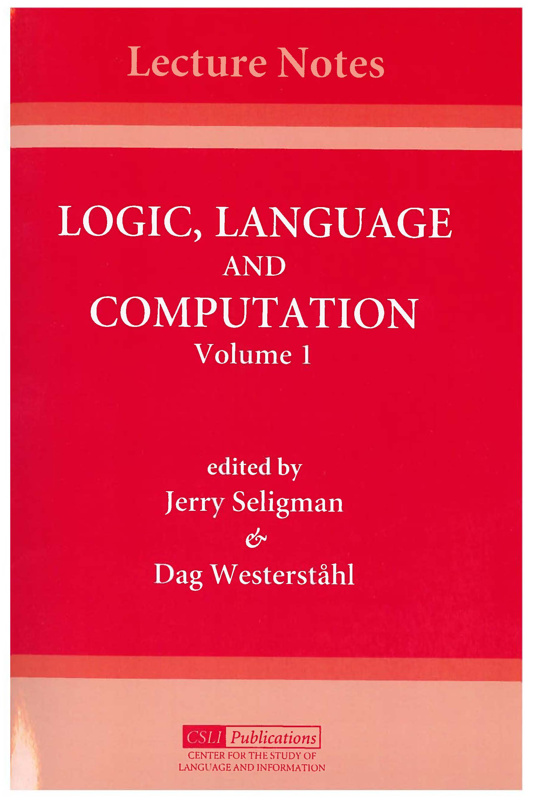 Logic  Language And Computation  Volume 1