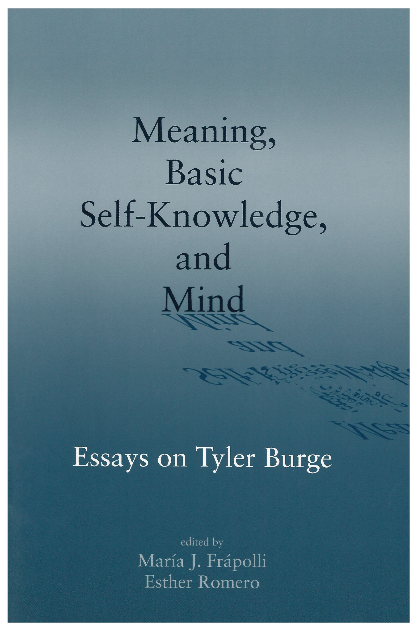 essay knowledge self Self-knowledge is a term used in psychology to describe the information that an individual draws upon when finding an answer to the question what am i like.