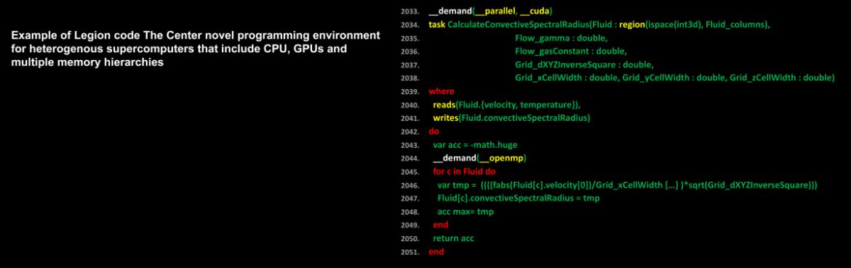 Example of Legion code