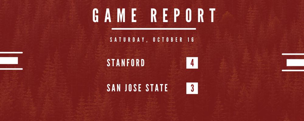 Stanford Holds Off SJSU 4-3 in Saturday Night Thriller