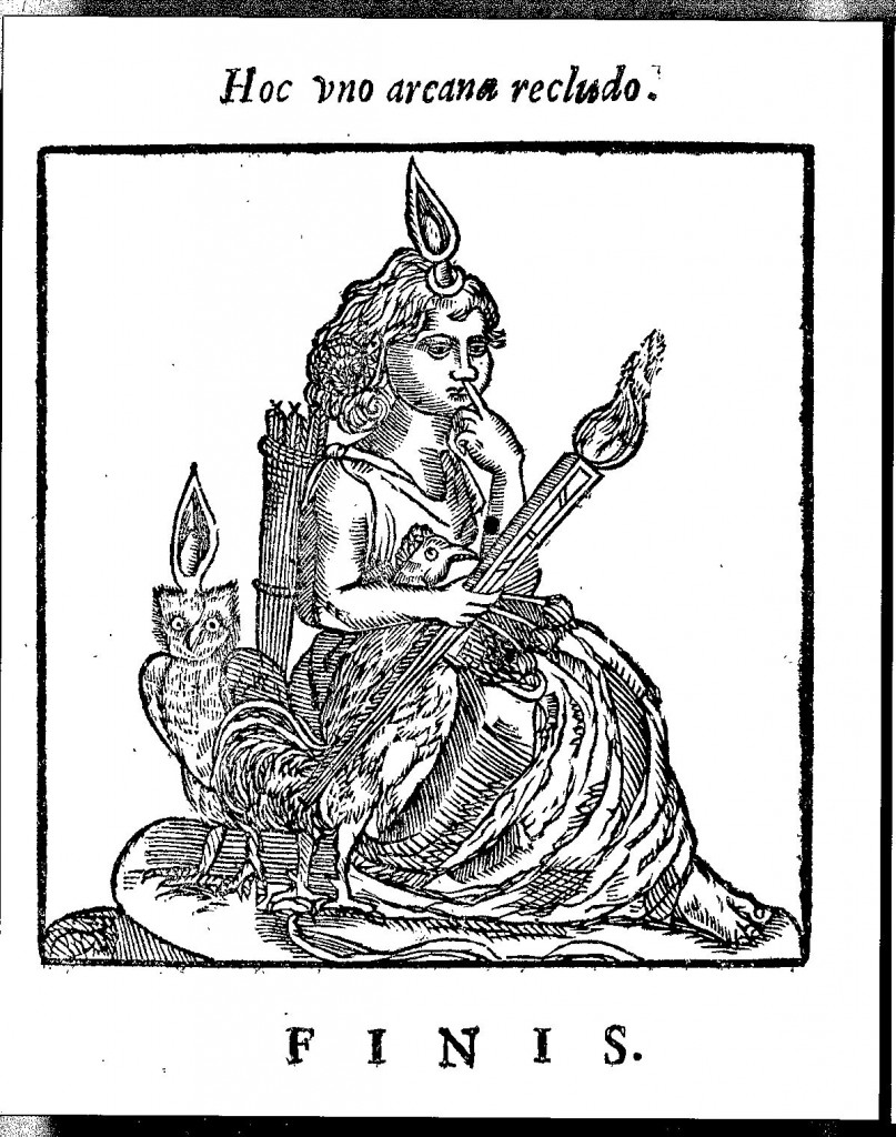 Harpocrates, the Egyptian god of silence and secrecy, from Oedipus Aegyptiacus, tom. 3, p. 590