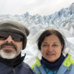 Sam and Aruna in Patagonia in December 2017