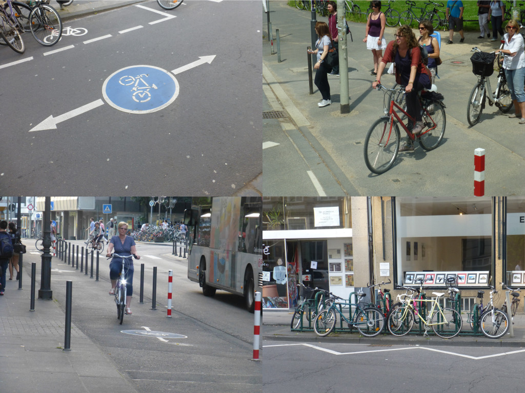 Collage of bicycle photos