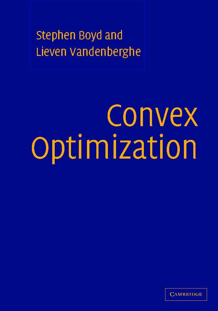 Convex Optimization book cover