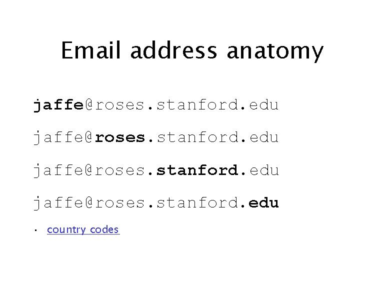 Email Address Anatomy
