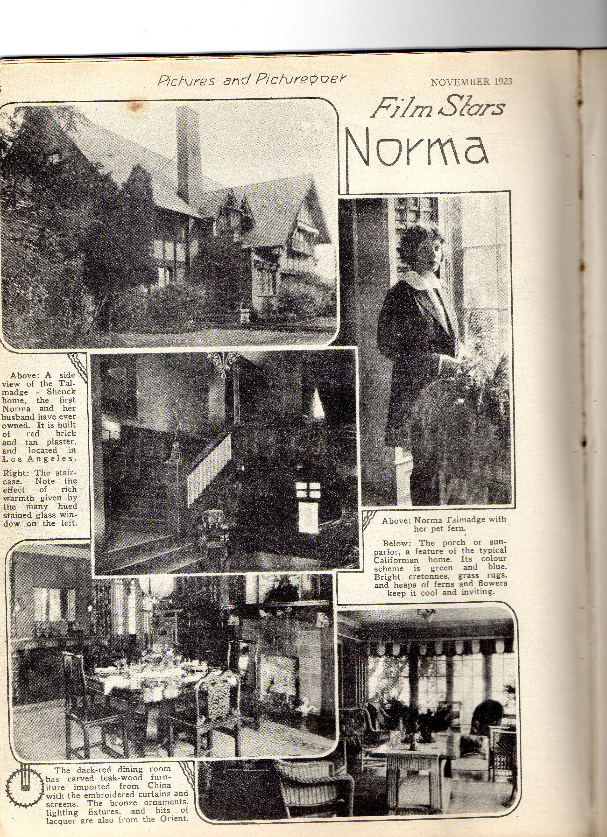Homes and Haunts : addresses associated with Norma Talmadge