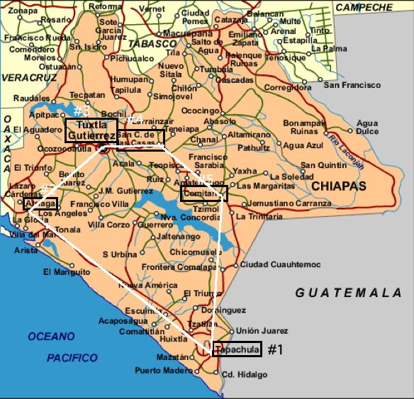 Map Of Chiapas Mexico Chiapas Trip 2010